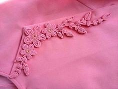 Diy Embroidery Patterns, Hand Embroidery Dress, Embroidery Stitches Tutorial, Embroidery Suits Design, Traditional Dresses Designs, Kleidung Design, Myanmar Traditional Dress, Fabric Embellishment, Myanmar Dress Design