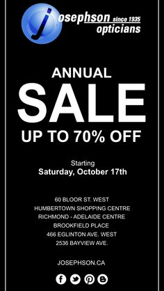 1053e73383f7 Join us for our ANNUAL SALE starting this Saturday