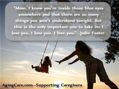 """At the 2013 #GoldenGlobe Awards, Jodie Foster was given the Cecile B. DeMille Award for Lifetime Achievement. During her acceptance speech, she addressed the deep, abiding love she has for her mother, who suffers from dementia.    """"Echoes of a Caregiver: Jodie Foster's Tribute to Mom with Dementia""""   http://www.agingcare.com/155457"""
