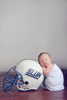 My future son will need to have a picture like this.  For his dad, a former college football player. :)
