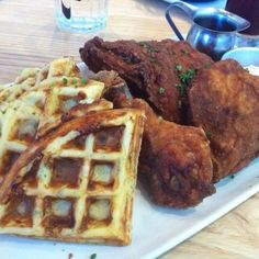 Chicken and Waffles at Yardbird, Miami Beach