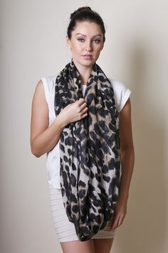 Women's Beverly Hills Sophie Animal Print Infinity Circle Loop Scarf / Shawl / Wrap at Amazon Women's Clothing store: