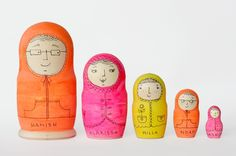 Decorate your own Babushka dolls.  Love this company!  #Blank