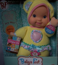 Baby's First Heartglow Baby, Goldberger, 18+ Months by Goldberger Toy. A soft, cuddly doll by Goldberger. Appropriate first baby doll for ages 18+months.