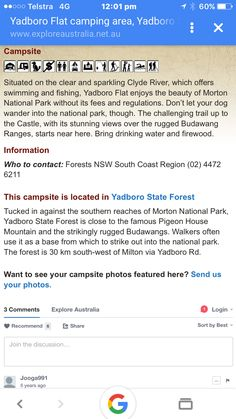 Yadboro Flat campground nsw state forest did friendly about 30kms in from the coast west of Ulladalla