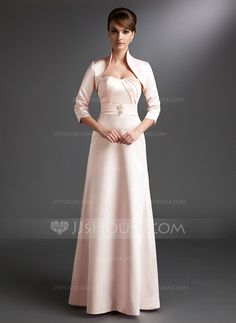 Mother of the Bride Dresses - $119.99 - A-Line/Princess Sweetheart Floor-Length Satin Mother of the Bride Dress With Ruffle Beading (008006237) http://jjshouse.com/A-Line-Princess-Sweetheart-Floor-Length-Satin-Mother-Of-The-Bride-Dress-With-Ruffle-Beading-008006237-g6237