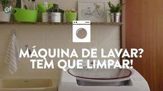 Máquina de lavar roupa também precisa de faxina  Ao longo do tempo de uso, o eletrodoméstico acumula sujeira e resíduos que precisam ser retirados