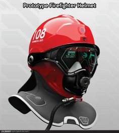 Prototype fire helmet. Yes, please.