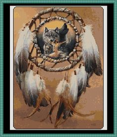 - Wolf Cross Stitch [indian] - £1.75 : Witchykitt Designs ...