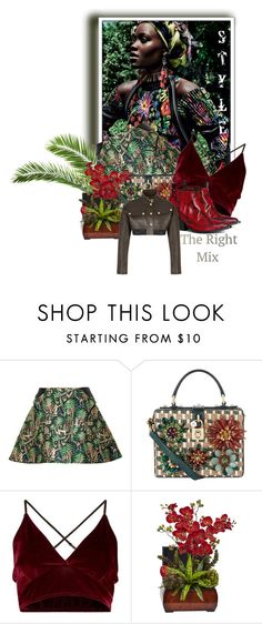 """""""Style The Right Mix : The Little Animal"""" by the-house-of-kasin ❤ liked on Polyvore featuring Delpozo, Dolce&Gabbana, H&M, tropical, animalprint, tropicalprints, estyle and hookedonstyle"""