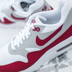 Nike Air Max 1 Ultra Essential OG Pack White/ University Red-Natural Grey-