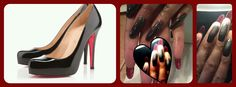 Louboutin  Red bottoms... nails by Rena www.Facebook.com/hautetphaeulz