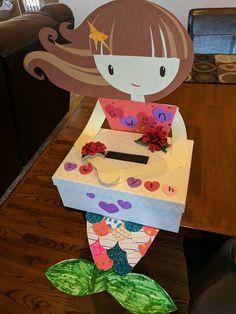 Mermaid Valentines Box for school