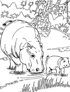 Big Coloring Pages Of Animals | Free coloring pages to print or color online