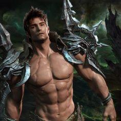 Fantasy Men Wallpaper   Fantasy Men Muscular Artwork Guy HD iPad Wallpapers from Category ...
