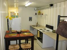 Shipping Container Home Interior #TinyHomes >> Get more info about alternative green homes at Learn more at} http://wiselygreen.com/container-homes-pros-and-cons-of-shipping-container-homes/