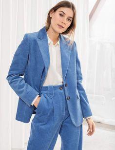 Blazer NEW LOOK Blue Crepe Open Front Blazer Bleu électrique