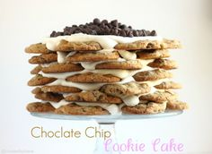 Chocolate Chip Cookie Cake Recipe @createdbydiane