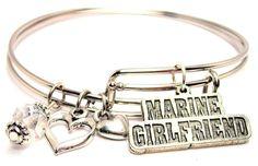 Marine Girlfriend Two Expandable  Cuff  Bracelets by CorsoStudio, $16.00