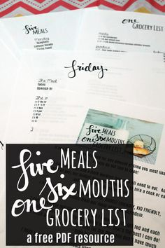One week of easy, budget friendly, kid friendly, and quick meals from my meal planning schedule! A pdf file of the menu, Monday-Friday, the grocery list, and each's days meal, ingredients and prep!