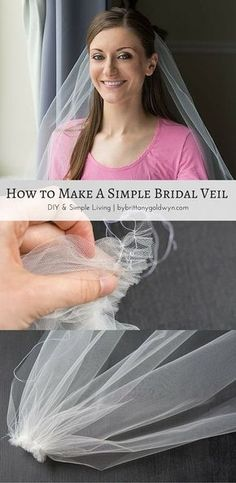 Learn how you can make a simple DIY wedding veil for your wedding. It needs only limited sewing skills...you can do it!