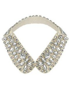 Stone Embellished Shirt Collar - what a great way to completely change an outfit!
