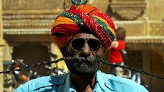 A very long mustache İndian