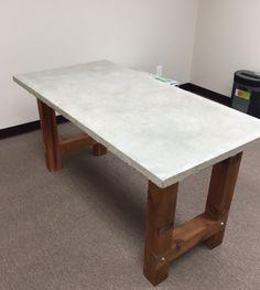 Concrete desk top with foam core - Album on Imgur