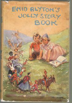 'Enid Blytons Jolly Story Book' in dw), ill. by Eileen Soper Old Children's Books, Vintage Children's Books, Paperback Books, Enid Blyton Books, Who Book, Books For Teens, Little Doll, Children's Book Illustration, Childrens Books