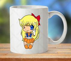 Sailor Mercury mug, Sailor Mercury Cup, Manga lover gift, chibi mug, Kawaii mug, anime gift mug, Sailor Moon cup, cute chibi cup, Kawaii cup