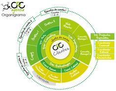 Organigrama circular, razón de ser: Clientes, forma de lograrlo: En equipo