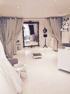 Bridal Boutique, Oversized Mirror, Curtains, Furniture, Home Decor, Blinds, Decoration Home, Room Decor, Home Furnishings