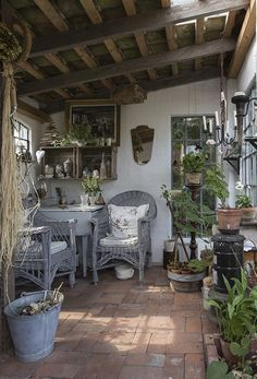 Hus i havens tegn Dream Home Design, My Dream Home, House Design, Outdoor Rooms, Outdoor Decor, Shed Homes, Backyard Retreat, Cabin Interiors, Rustic Gardens