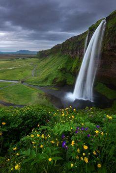 Overcast by Dave McEllistrum on 500px.. Seljalandsfoss, Iceland