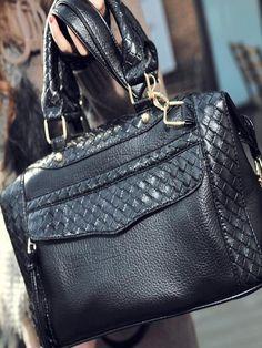 Simple Design Zipper Two Ways Handbag from MixMoss (mixmoss.com)