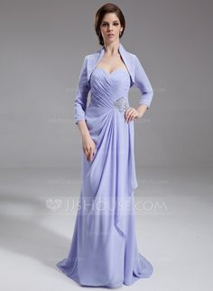 Mother of the Bride Dresses - $138.99 - A-Line/Princess Sweetheart Sweep Train Chiffon Mother of the Bride Dress With Ruffle Beading (008006546) http://jjshouse.com/A-Line-Princess-Sweetheart-Sweep-Train-Chiffon-Mother-Of-The-Bride-Dress-With-Ruffle-Beading-008006546-g6546?ves=y0now5&ver=hd8yk