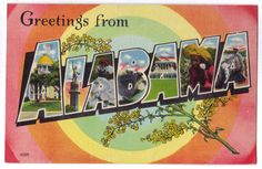Vintage Alabama postcard.