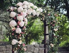 Luxury Wedding Ideas with Elegant Floral Details - floral arch