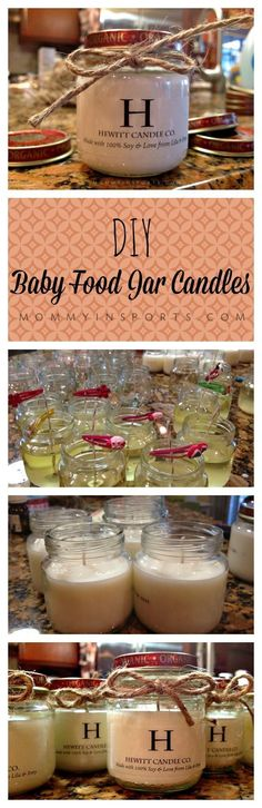 DIY Baby Food Jar Candles! Perfect gift for the holidays, get all your supplies at a big discount on Black Friday.