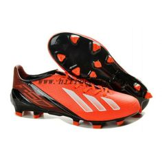 New Lionel Messi 2013 Adidas F50 Adizero TRX FG Leather Red Black White  Boots 52b218395