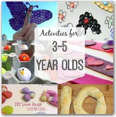 Fun activities for 3-5 year olds