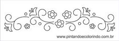 Resultado de imagem para arabescos vetor borboletas Embroidery Patterns, Hand Embroidery, Stencils, Diy And Crafts, Bullet Journal, Google, Punch, Ornament, Stickers