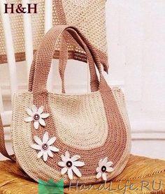 Free crochet purse with flowers pattern Вязаная сумка / Вязание Crochet Handbags, Crochet Purses, Crochet Bags, Free Crochet, Crochet Shell Stitch, Diy Tote Bag, Unique Crochet, Crochet Shoes, Purse Patterns