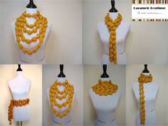 DIY Stylish Crochet Puff Ball Scarf | iCreativeIdeas.com Follow Us on Facebook --> https://www.facebook.com/icreativeideas