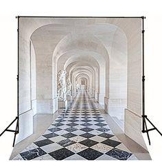 Black and White Floor Length Corridor Photography Backdrop Photo Background Castle Backdrop, Indoor Shooting, Background For Photography, Photo Backgrounds, Corridor, Wedding Shoot, Photo Studio, Digital Photography, Backdrops
