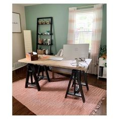 Francisco Draft Desk, Office Desk | Pottery Barn Wooden Counter, Counter Stools, Office Paint Colors, Home Office, Office Desk, Pipe Desk, Tongue And Groove, High Quality Furniture, Custom Rugs