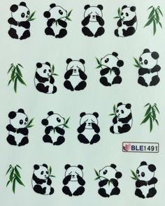 Nail Art Water Decals Panda Bear Source by [pin_pinner_useNail Art Water Decals Panda Bear Nail Art Water Decals Panda Bear rname] Nail Art Panda, Panda Craft, Panda Bear Tattoos, Animal Tattoos, Cute Tattoos, Small Tattoos, Tatoos, Cute Panda Drawing, Panda Wallpapers