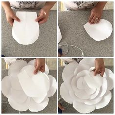 "654 Me gusta, 115 comentarios - Danielle Gonzales (@backdropinabox) en Instagram: ""Hi everyone here is a mini tutorial on one of my paper flowers and I used number 21 template 😍 I…"""