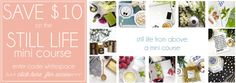 PS, I created a delightful 40 minute mini-course (that's 34 gorgeous pages) where I talk you through styling those beautiful Still Life shots from above. For a limited time you can save $10 a…