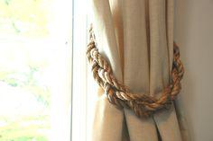 Chunky Braided Manila Rope Curtain Tiebacks by AndreaCookInteriors on Etsy